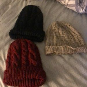Set of 3 H&M beanie hats ❄️